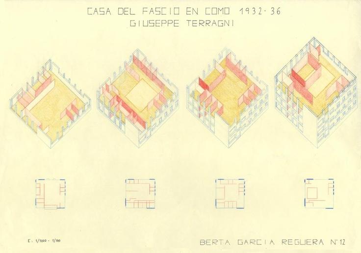 Terragni. Casa del Fascio en Como (Italia).