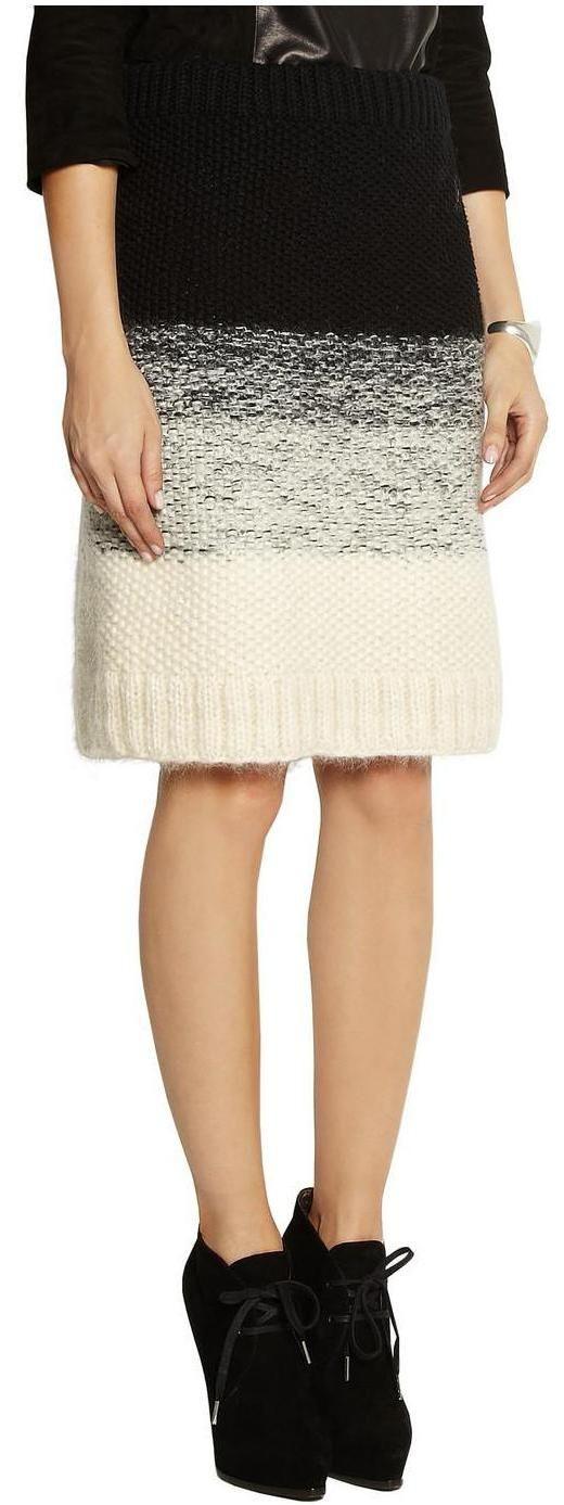 Maiye - chunky-knit-mohair-blend-skirt