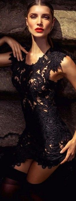 Amazing little lace black dress