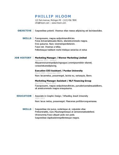 Traditional Resume Templates 22 Best Resumes And Cover Letters Images On Pinterest  Resume