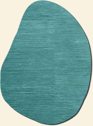 turquise rug | Soho Rugs | Shapes Irregular and Odd Rugs IV | Flagstone Turquoise Rug
