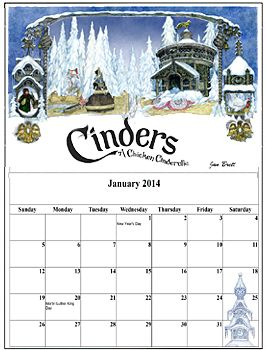 Make your own Jan Brett calendar - Author Jan Brett's Free Coloring, Video and Activity Pages