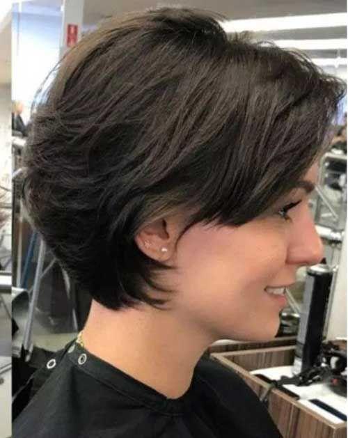 Dernières coupes de chevelure courts Bob vers les femmes