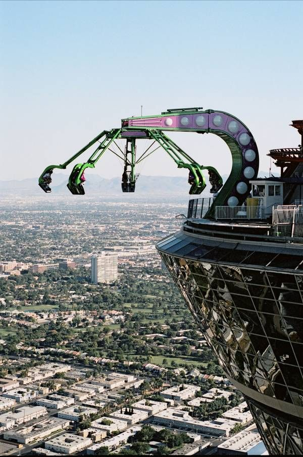 Las Vegas's Insanity. On the top of Stratosphere Tower in Las Vegas, Nevada. :D