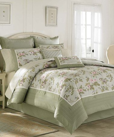 Look at this #zulilyfind! Green Avery Comforter Set by Laura Ashley Home #zulilyfinds
