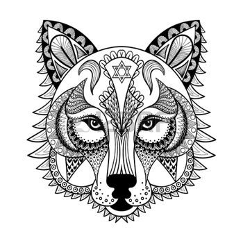 Of Vector Ornamental Wolf Ethnic Mascot Amulet Mask O Art By I Panki From The Collection IStock Get Affordable At Thinkstock UAE