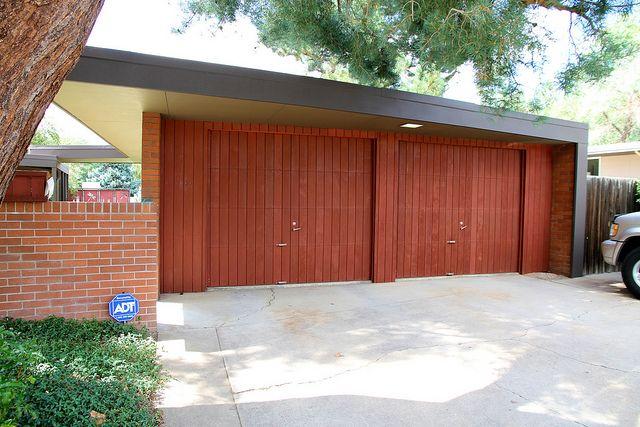 293 best modern garage door and gates images on pinterest for Mid century modern garage