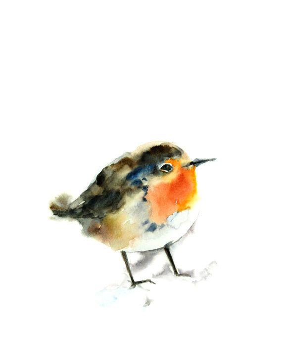 Bird Art Print Bird Painting Bird Print by CanotStopPrints on Etsy