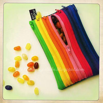 Zipper zipper pouch
