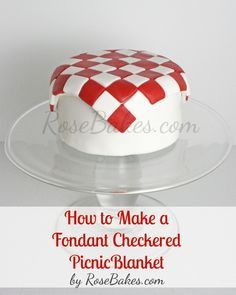How to Make a Fondant Checkered Blanket - For all your cake decorating supplies, please visit craftcompany.co.uk