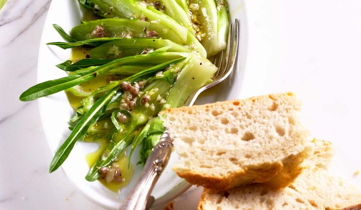 Perfect as a starter as well as a decidedly summery stand-alone dish, puntarelle salad has an unforgettable, assertive taste!