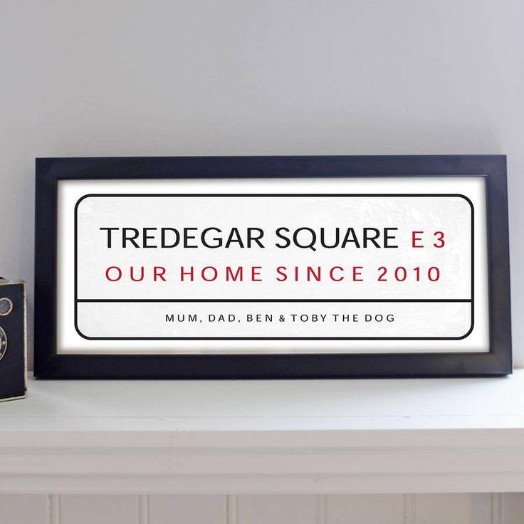 Personalised Street Sign Print