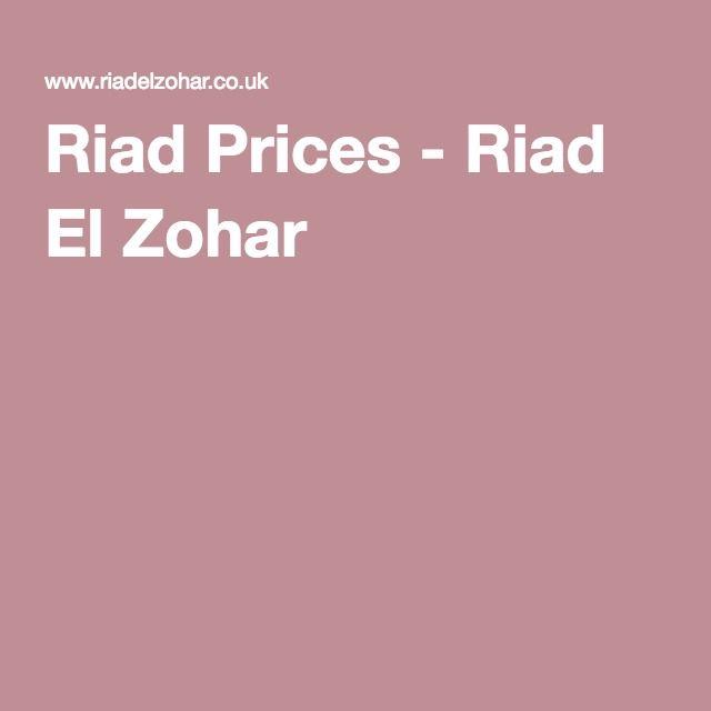 Riad Prices - Riad El Zohar