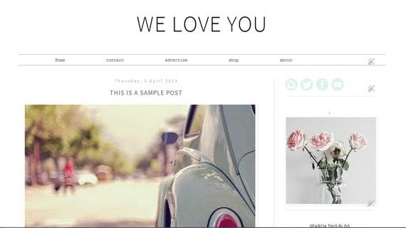 Premade Blogger Template Blogger Theme design by DiscoverTheCoast