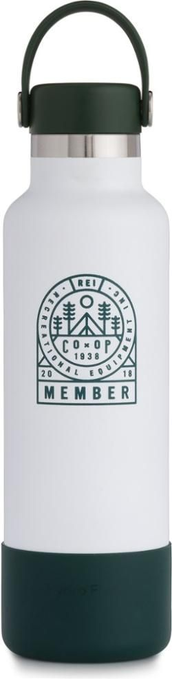 Hydro Flask Member Exclusive REI Co-op Standard-Mouth Water Bottle with Flex Cap and Boot - 21 fl. oz.