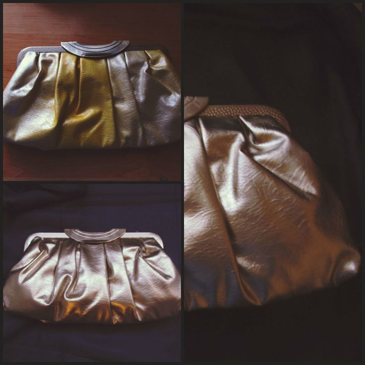 Gold spray painted clutch =)