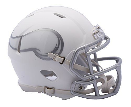 NFL Minnesota Vikings Riddell Ice Alternate Speed Mini Replica, Silver, Small by Riddell. NFL Minnesota Vikings Riddell Ice Alternate Speed Mini Replica, Silver, Small. Small.