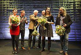 An & Co boeketten bij de Jan Campert prijsuitrijking.  An & Co bouquets at the Jan Campert award ceremony.