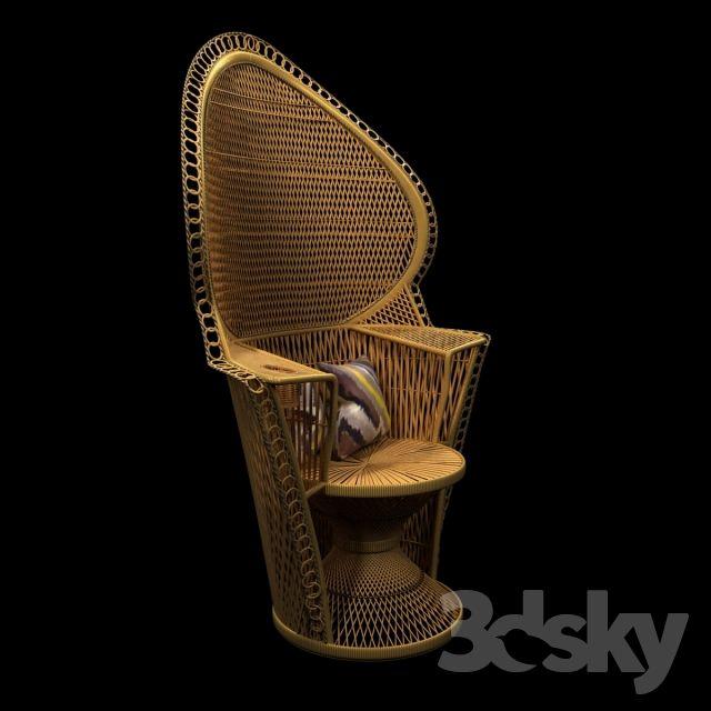 https://3dsky.org/3dmodels/show/wicker_rattan_fan_back_peacock_chair_vintage