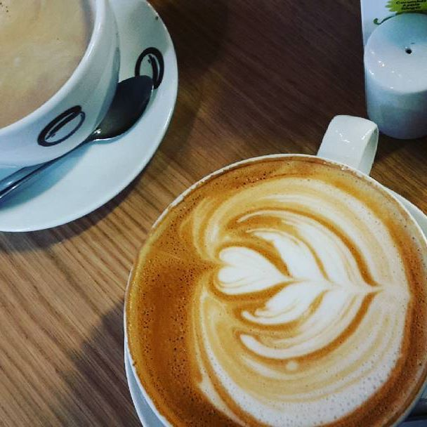 Enjoying our last cup of Coffee before flying back to Denmark tomorrow -Ireland it has been fun ♡  #coffee #shop #dublin #january2017👣 #ireland