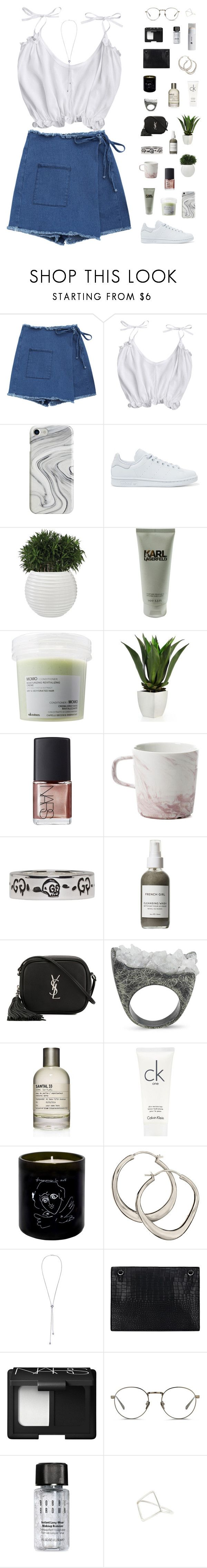 """""""Wrap skirt"""" by f-resh on Polyvore featuring Recover, adidas Originals, Karl Lagerfeld, Davines, NARS Cosmetics, Gucci, French Girl, Yves Saint Laurent, Burcu Okut and Le Labo"""