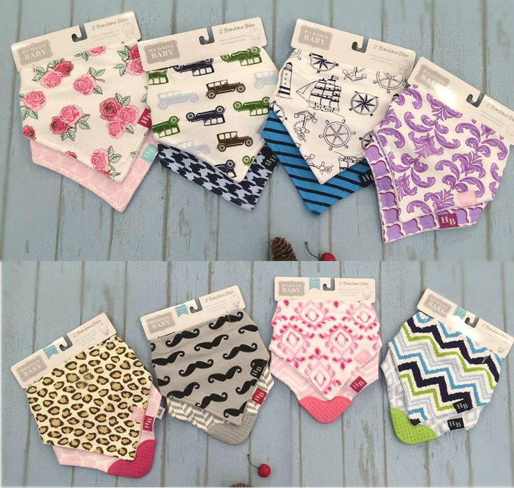 Luvable friends baby bibs 2 pieces / pack cute baby girl baby boy Bandana Drool Bibs