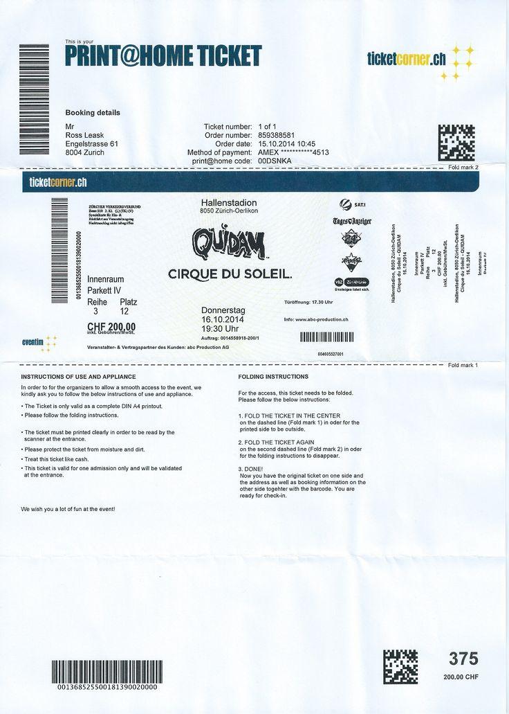 Cirque du Soleil - Quidam. 16th October 2014. Zurich (Hallenstadion).