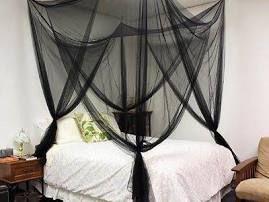 4 Corner Post Bed Canopy Mosquito Net Full Queen King Netting Bedding