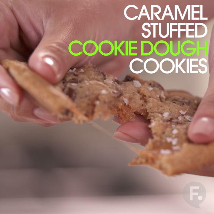 Caramel Stuffed Cookie Dough Cookies