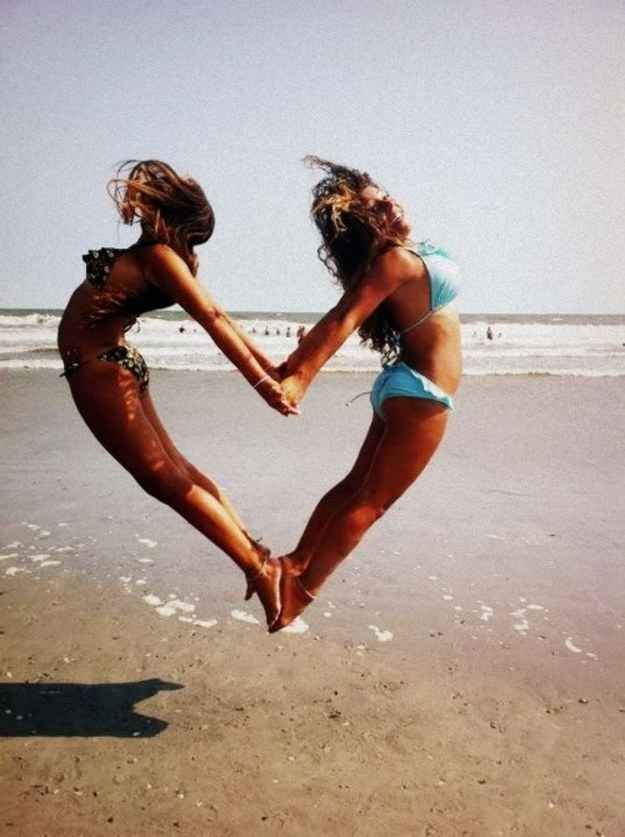 Show your <3 on the beach.