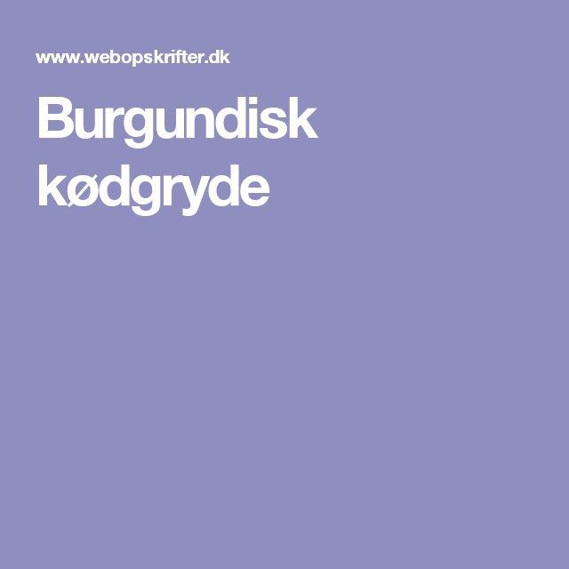 Burgundisk kødgryde
