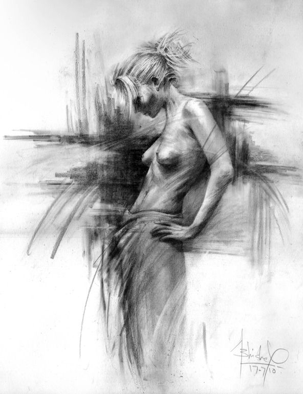 Saatchi online artist abhishek kumar pencil 2010 drawing the absence of lust