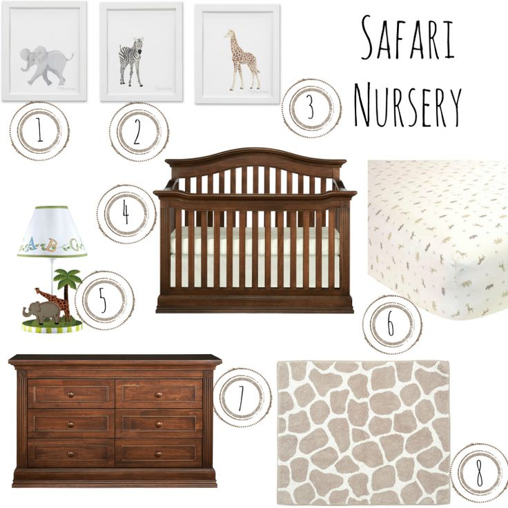 Safari Nursery Inspo Board - Montana Brown Sugar