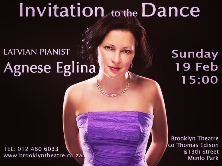 LATVIAN Pianist Agnese Eglina. Invitation to the Dance - popular piano programme. Bach to Piazolla. Sunday 19 Feb 15:00