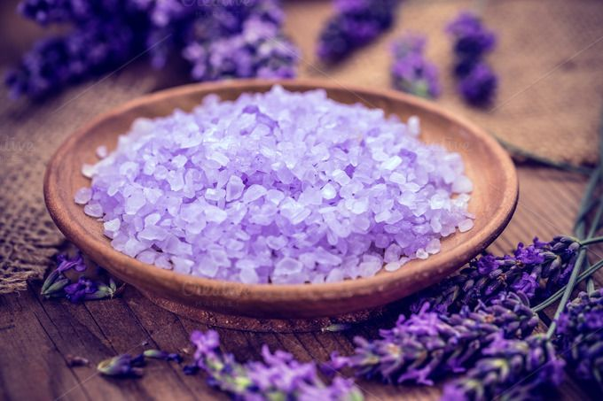 Lavender salt by Grafvision photography on @creativemarket