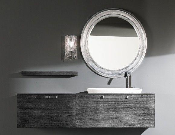 Giunone Edone Crio Vanity GIU262 Modular Italian Vanity in Silver Leaf