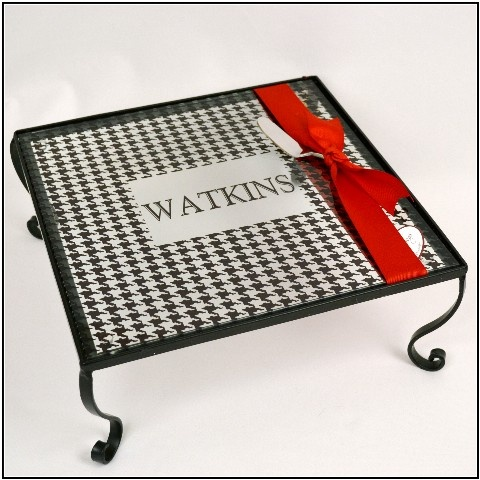 My Sas-y Server in black houndstooth... Perfect for Bama football parties!