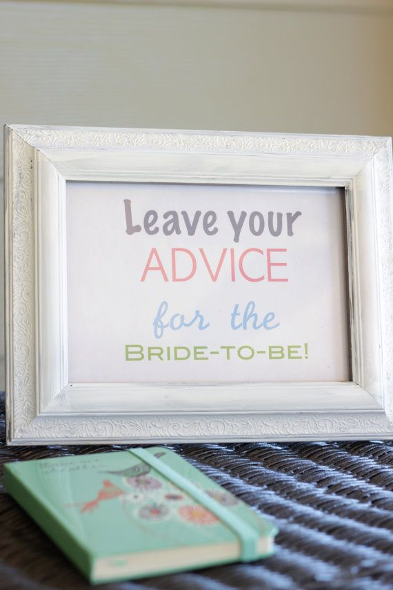 I'd like to put a sign similar to this one at my reception, and possibly at my bridal shower. I think it'd be fun to go through and see what people have to say about advice on both getting married and being married.