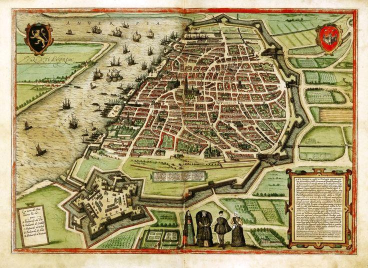 braun hogenberg civitates orbis terrarum antwerp belgium 1572 print mapantwerp belgiumcity