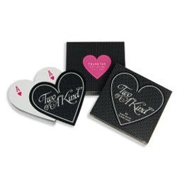"""Two of a Kind"" Heart Shaped Playing Cards with Personalized Labels"