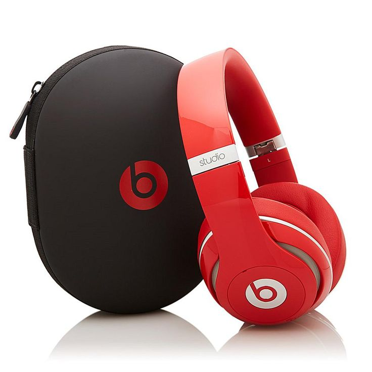 Beats by Dr. Dre Beats Studio Wireless® Rechargeable Over-Ear Noise-Canceling Headphones - Red