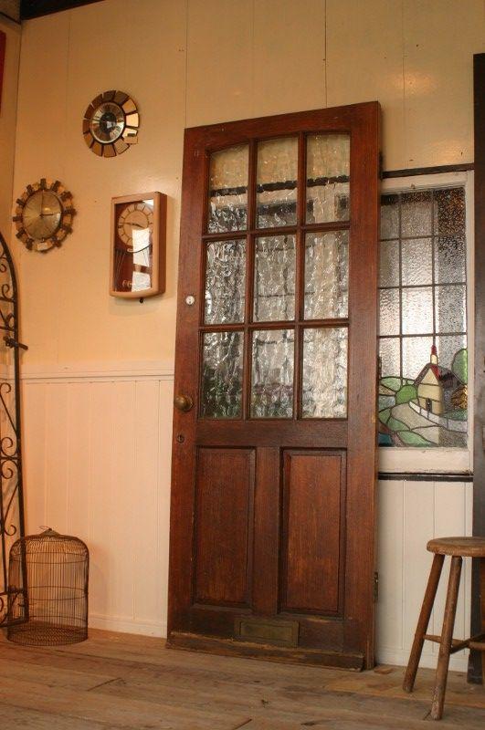 イギリス、アンティーク木製ドア、ガレージ扉 - BURN-UPS!