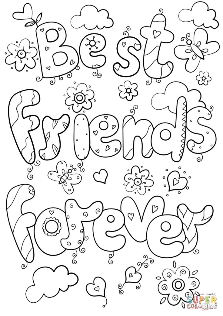 Bff Coloring Pages Best Of Friends Forever Page Logo And ...