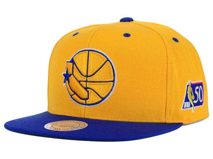 19279b1583f9b Golden State Warriors Mitchell   Ness NBA 50th Snapback Cap