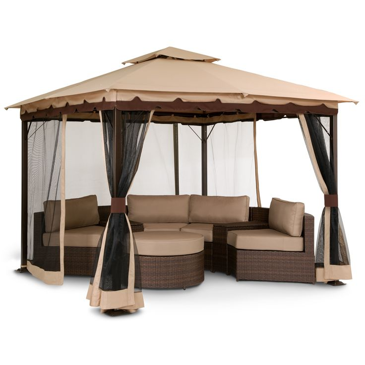 We Need This Gazebo So Bad Omg Patio Bali Gazebo With Screen Value City Furniture Spring