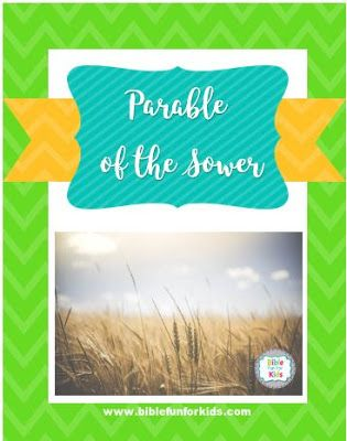 Parable of the Sower lesson, ideas and printables  #Biblefun #parable #lifeofjesus  #NTBiblelesson