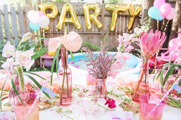 tavolo da festa   decorazioni rosa compleanno