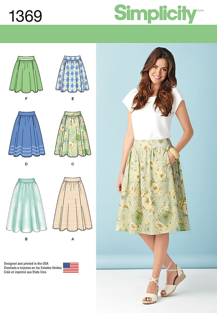 Simplicity 1369 Misses' Skirts in Three Legnths