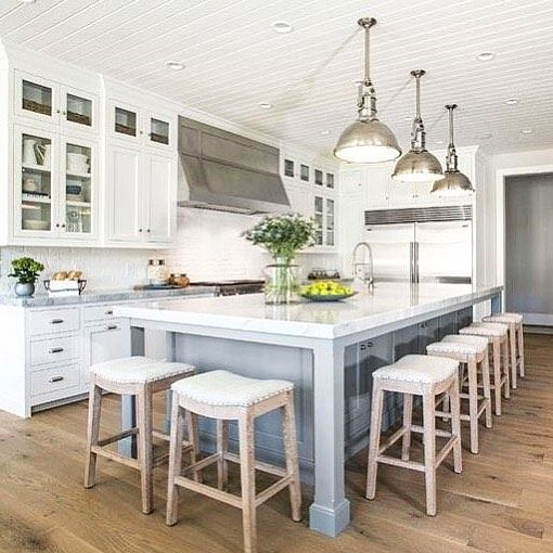 """176 Likes, 11 Comments - Canalside Interiors (@canalsideint) on Instagram: """"• Hamptons Stools • The hub of the home is often the kitchen island. Canalside Interiors' Mila…"""""""