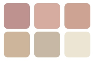 dusky pink colour palette